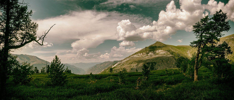 горы, облака, небо,, Антон