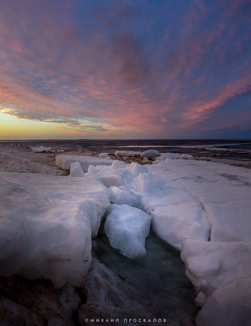 Зака, лед, пейзаж, природа, карелия, Михаил