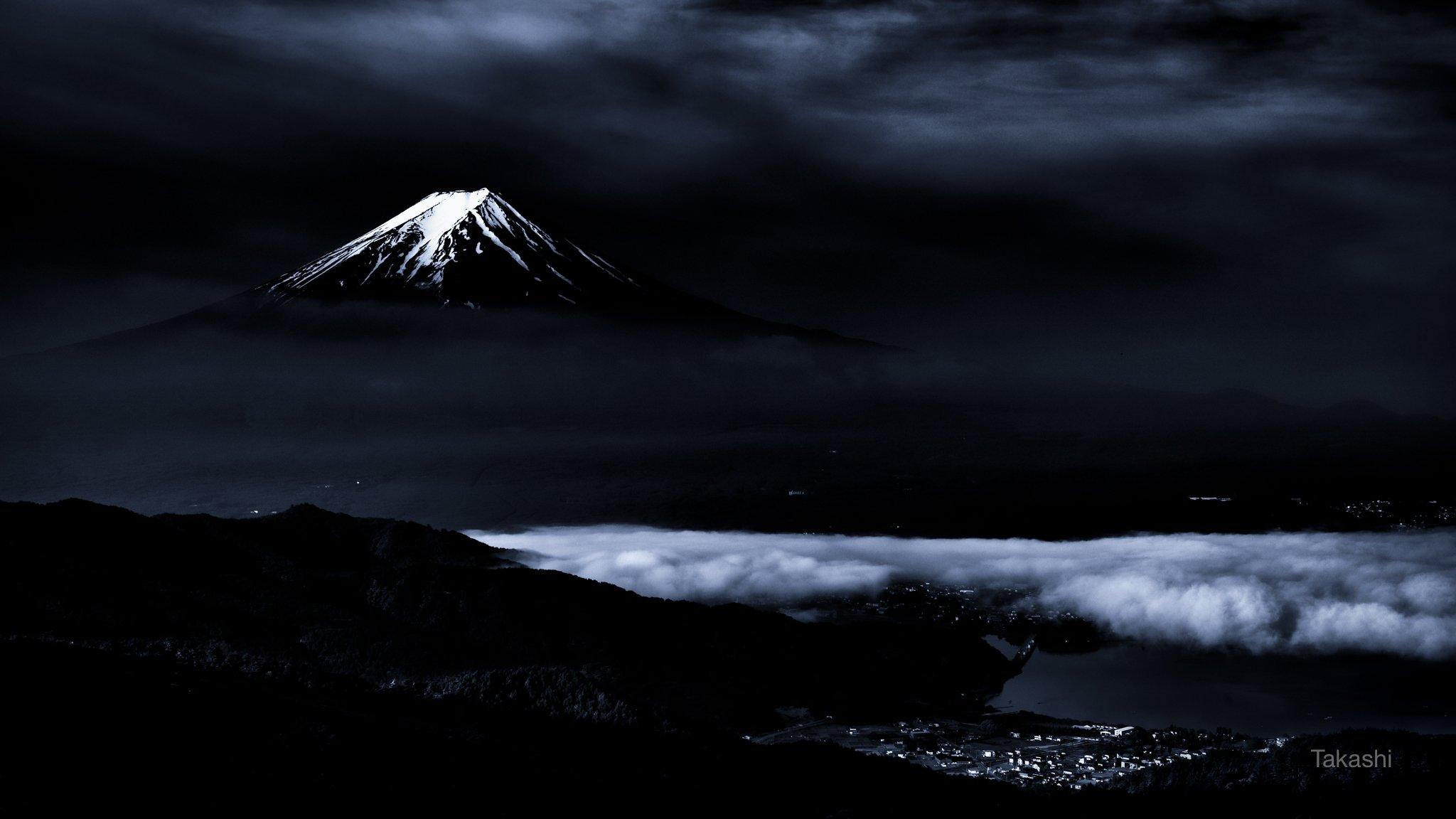 Fuji,mountain,Japan,clouds,snow,lake,scenery,beautiful,blue,amazing,landscape,, Takashi