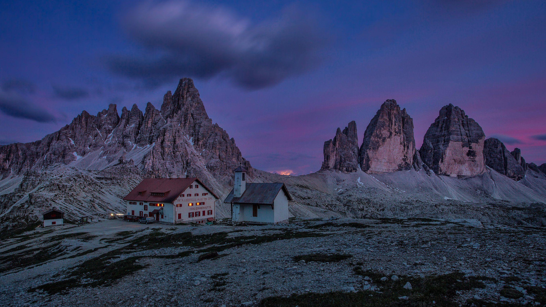 dolomites, tre cime, lavaredo, moutains,rocky, italy, europe, alp, night, long time, canon, Jarda Kudlak