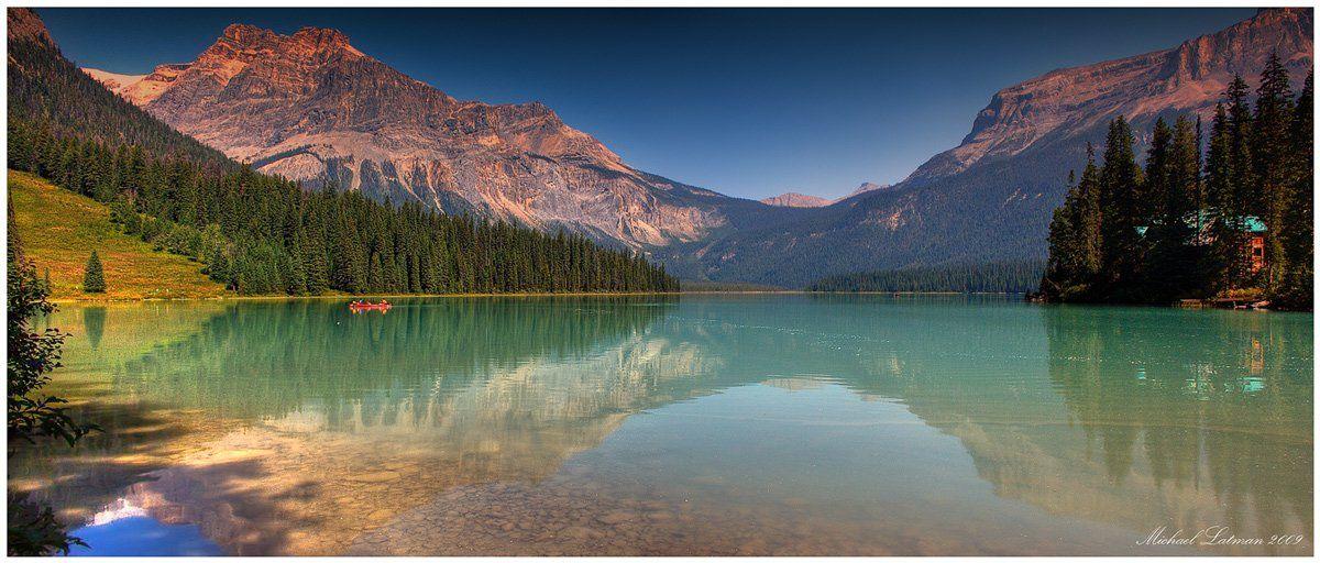 emerald, lake, rocky, mountains, summer, Michael Latman