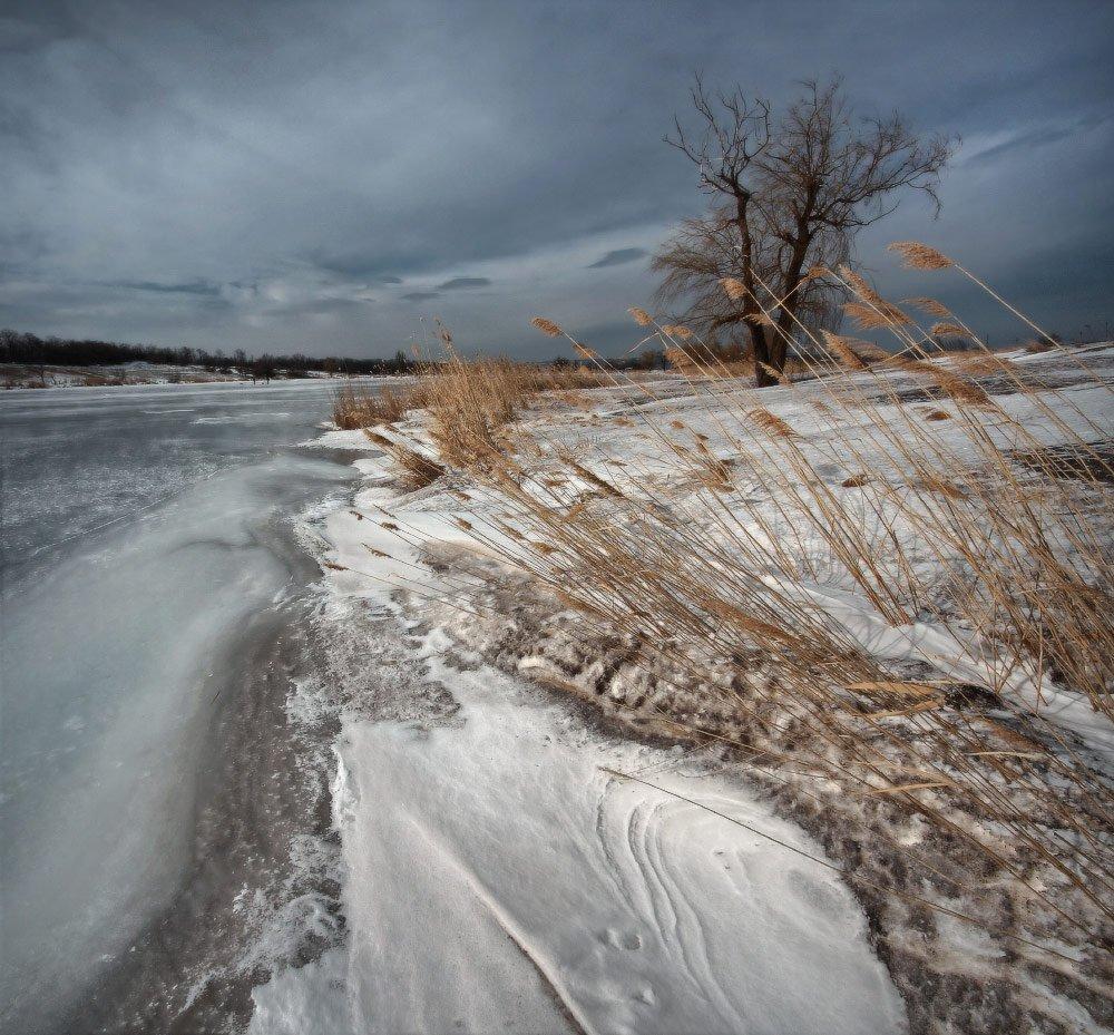 весна, март, ветер, мороз, снег, лёд, Петриченко Валерий