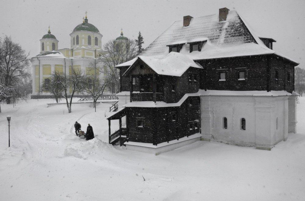козлов артур, зима, снег, монастырь, изба, Kozlov Artur