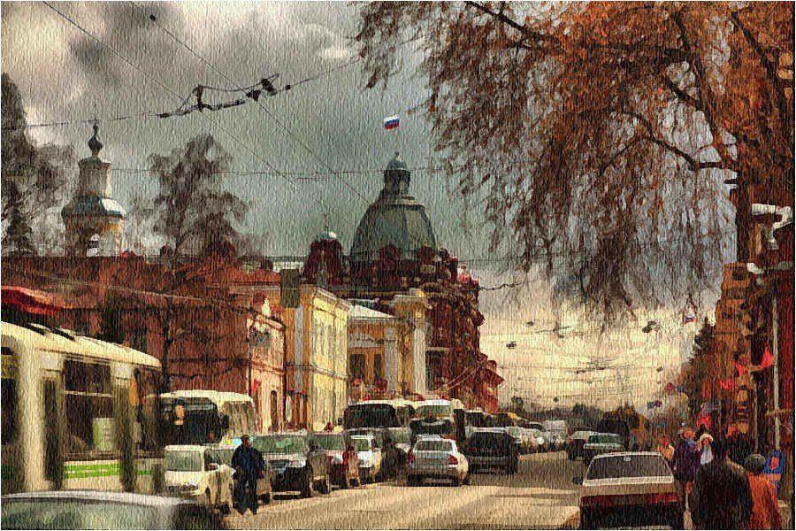 foto liubos, дома, дорога, небо, пейзаж, томск.сибирь, тучи, улица.дома, Любовь Селиванова