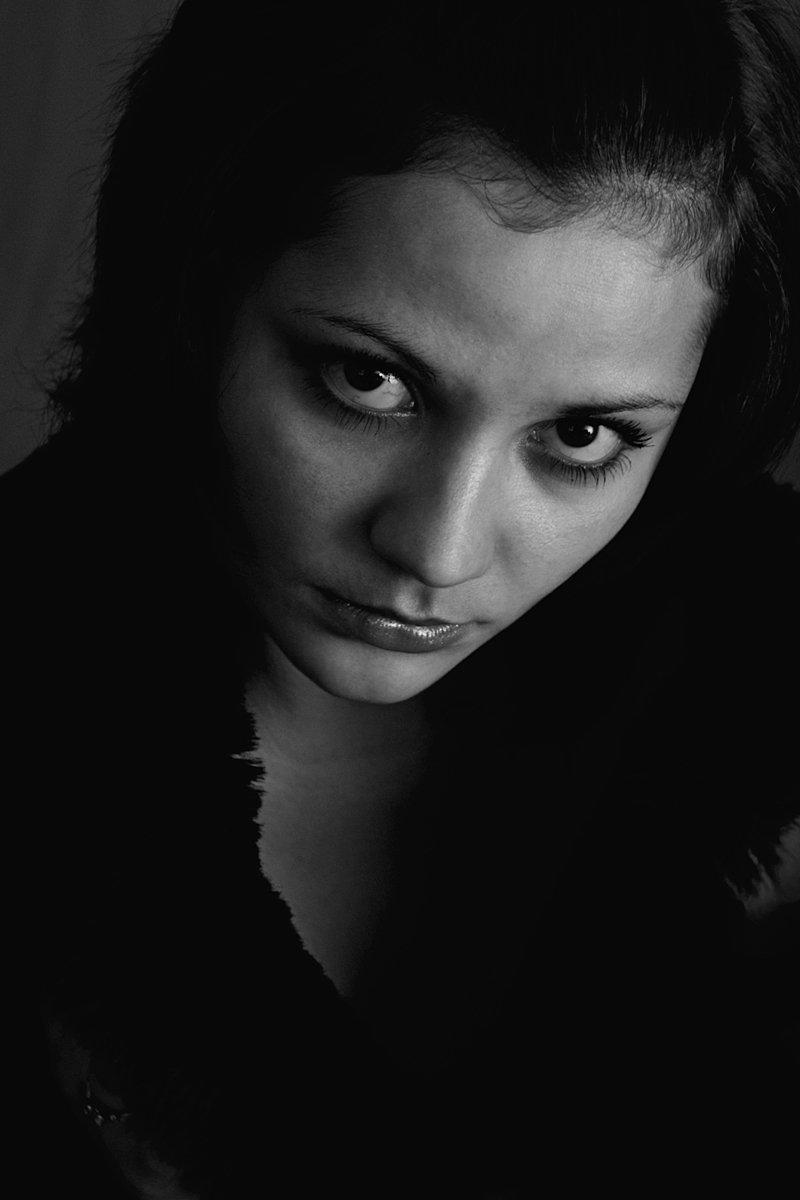 апатиты, портрет, взгляд, глаза, чб, девушка, Николай Смоляк