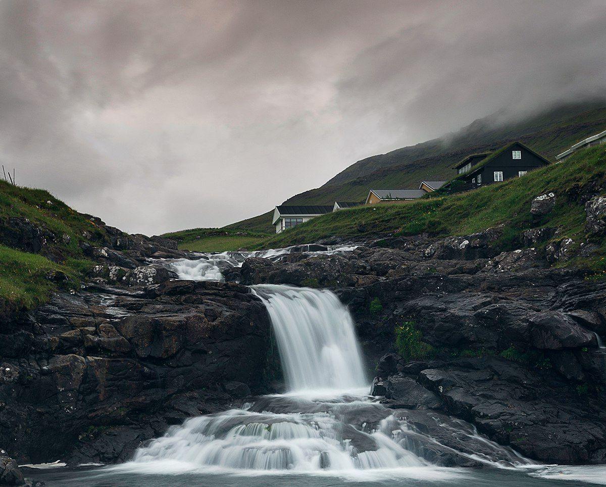 фарерские острова, водопад, , Казаков Петр