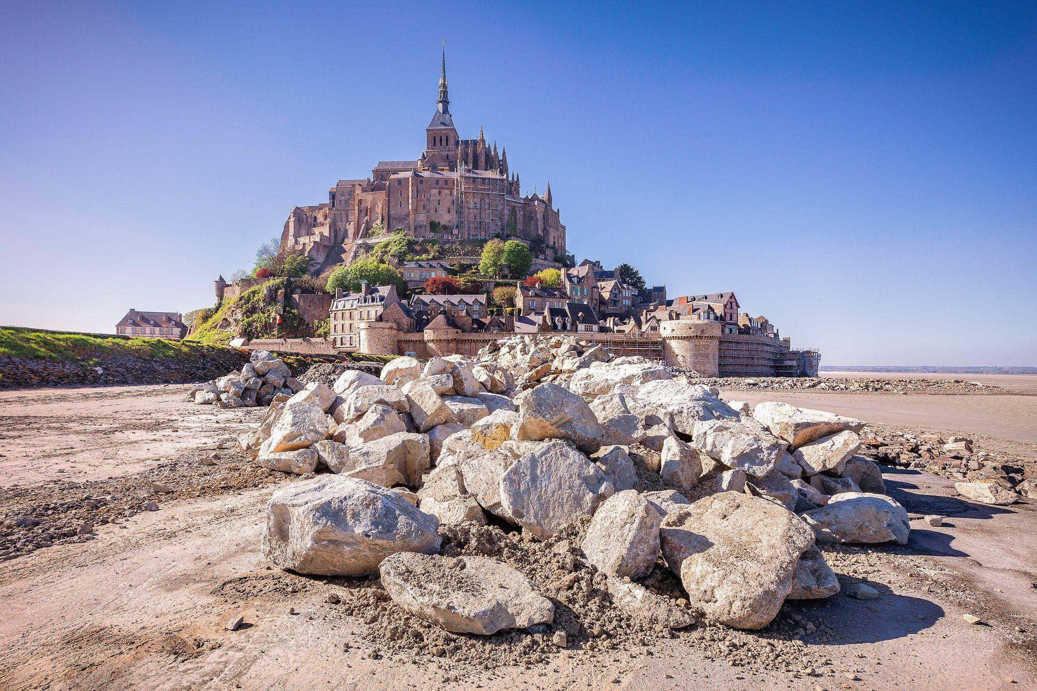франция,  mont saint-michel, замок, камни,, Андрей Огнев