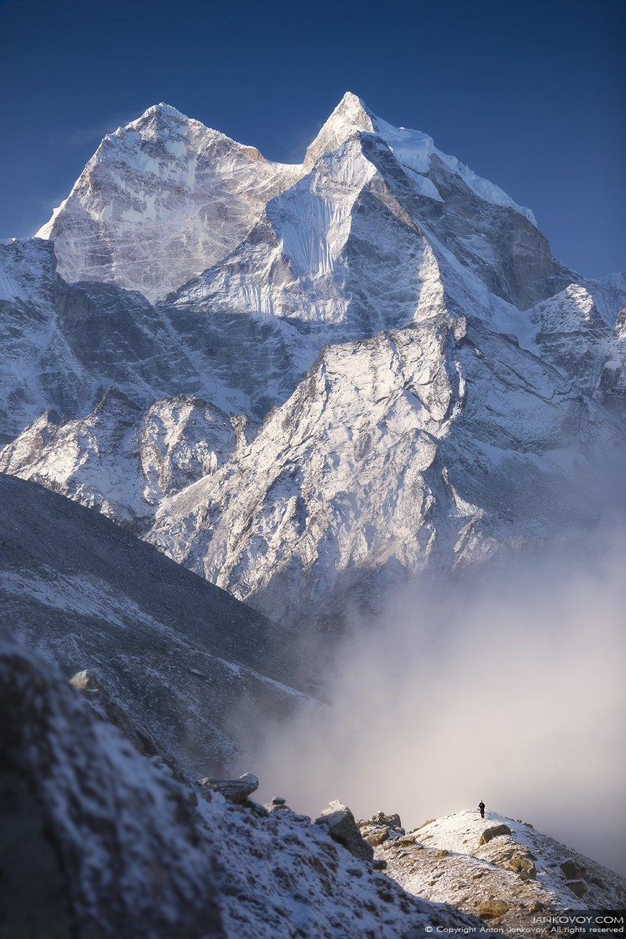 Непал, Эверест, Кантега, Гималаи, горы, треккинг, путешествия, пейзаж, снег, природа, Антон Янковой (www.photo-travel.com)