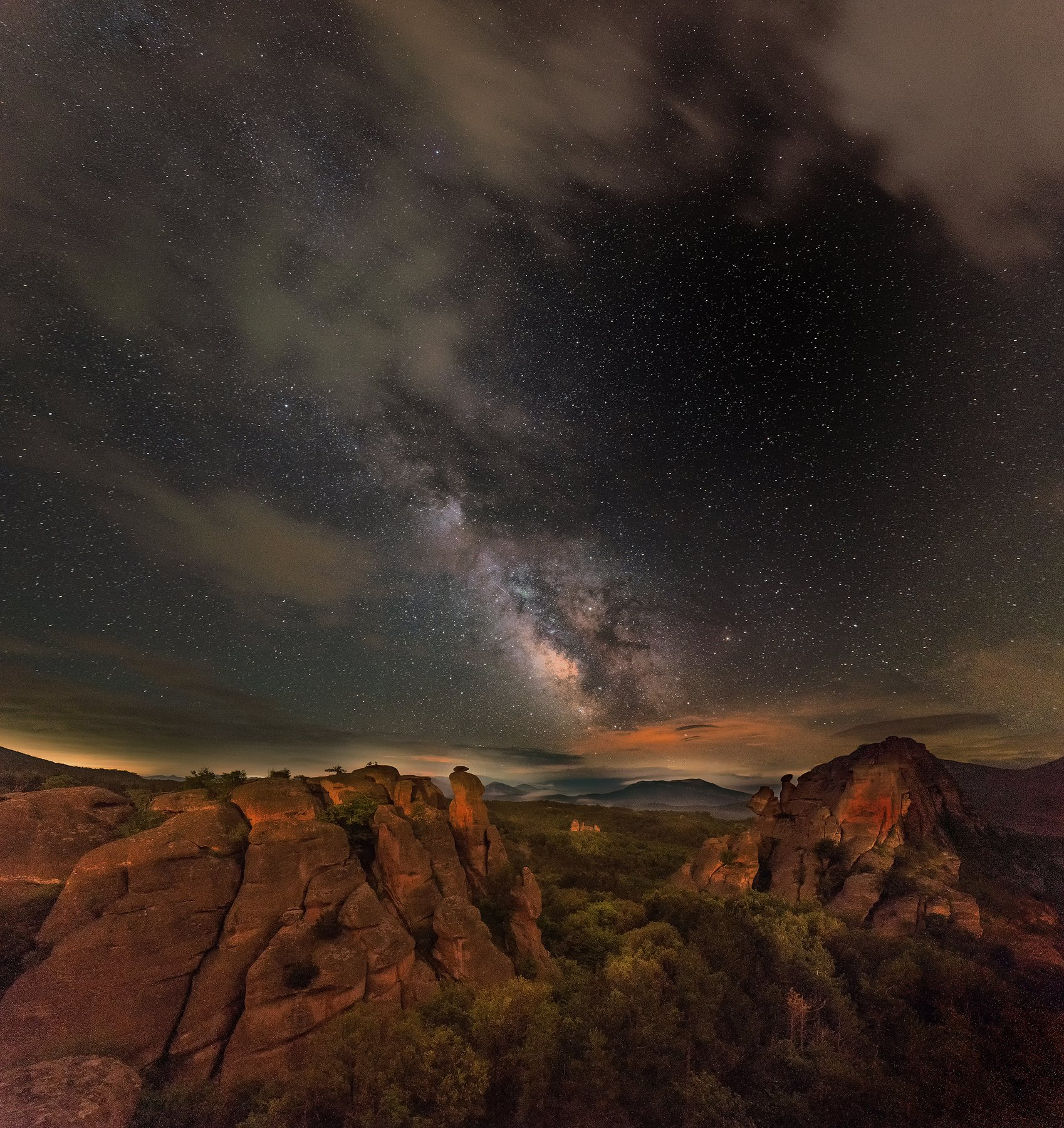 astrophotography,stars,night,Bulgaria,Belogradchik,nightscapes,rocks,red rocks, Даниел Балъков