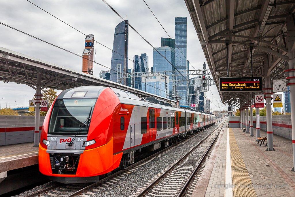 москва, сити, поезд, транспорт, мцк, ласточка, станция, платформа, современный, Иван Губанов