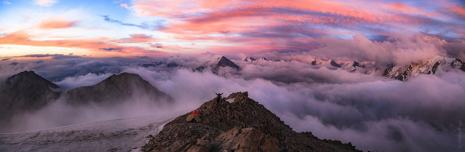 горы, закат, казахстан, алматы, Vitaliy Rage