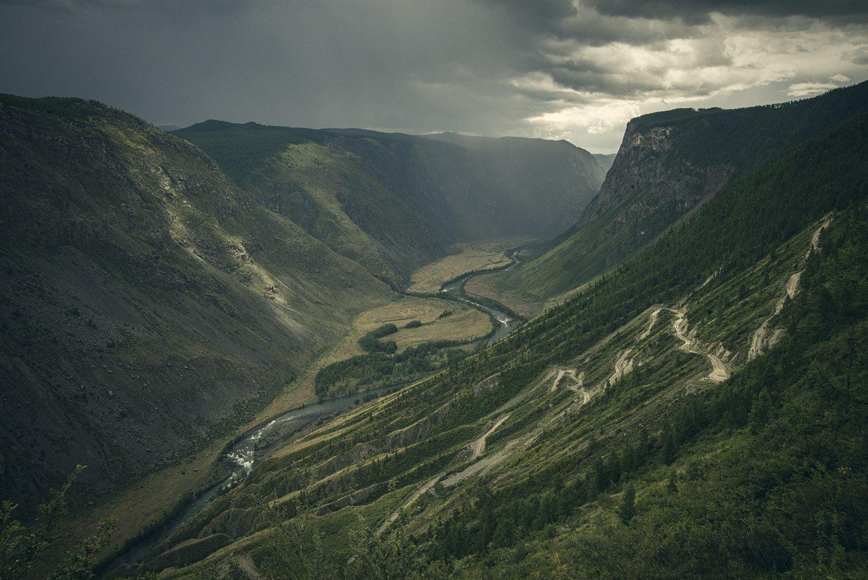 кату-ярык, катуярык, алтай, долина, чулышман, непогода, перевал, дождь, тучи, гроза, Игорь Токарев