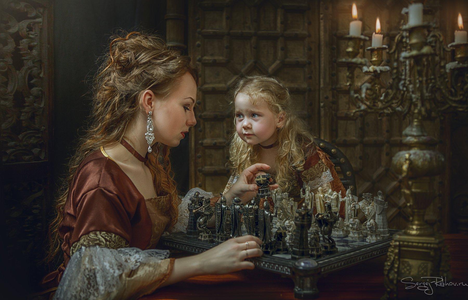 мама, ребёнок, девочка, студия, шахматы, рехов, сергейрехов, sergejrekhov, rekhov, Сергей Рехов