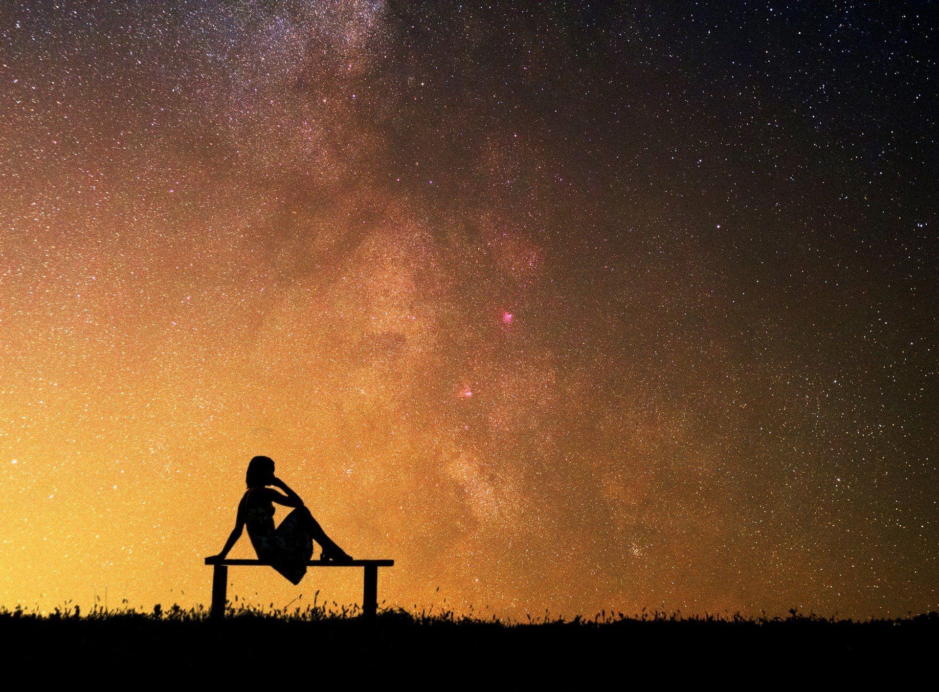 млечный путь, силуэт, звезды, небо, ночное фото, ночь, , Харланов Никита