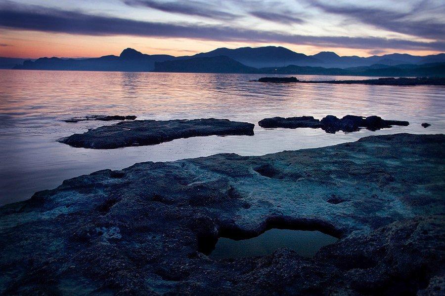 море, горы, закат, Anastasia Aymilios