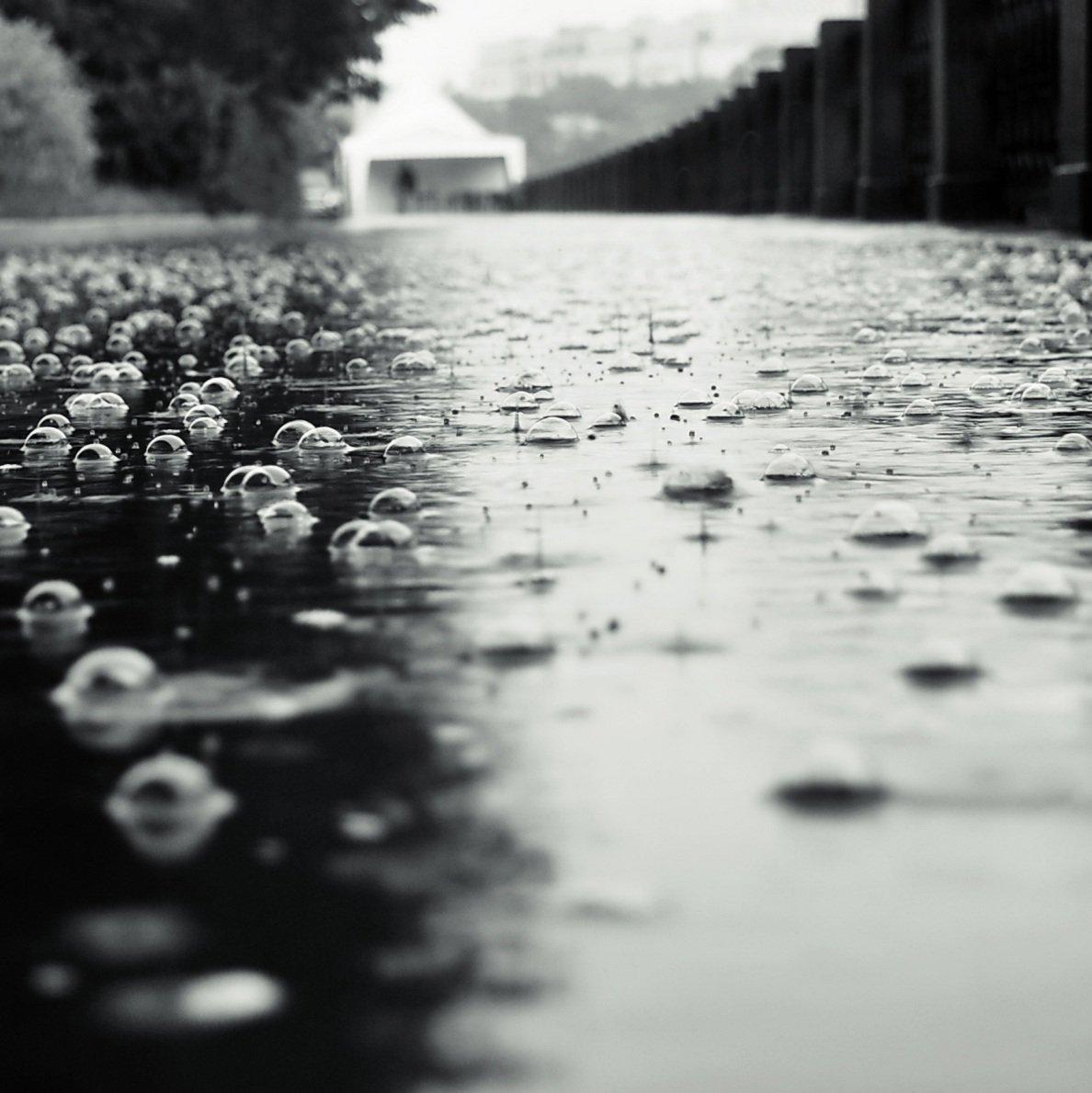 дождь, пузыри, капли, Ann