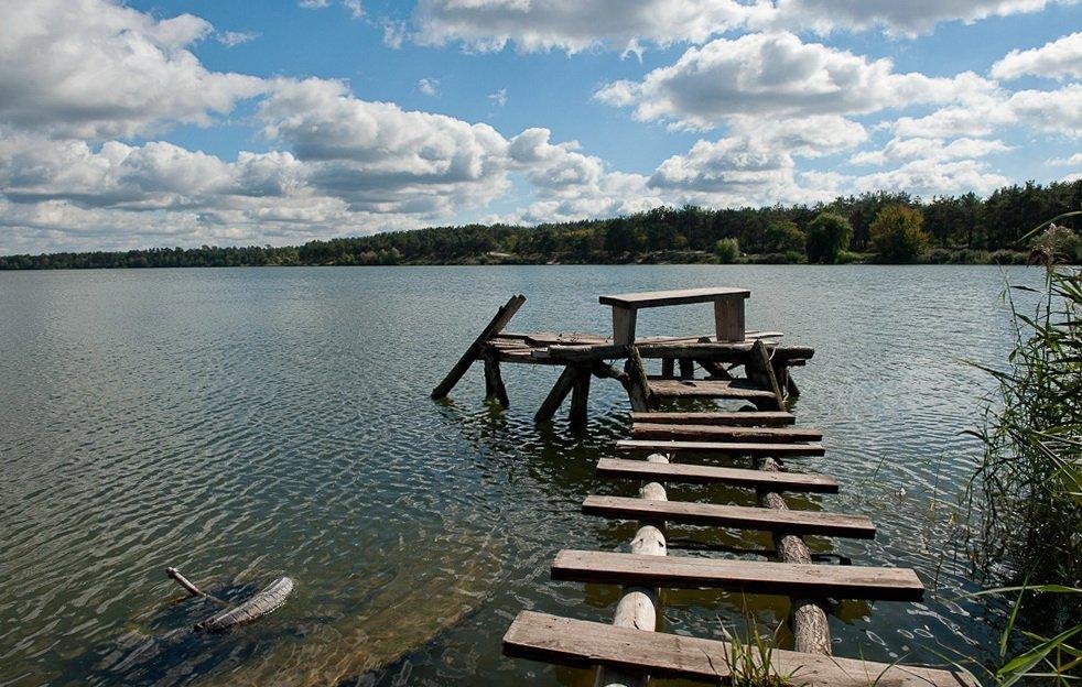озеро, облака, осень, Elena
