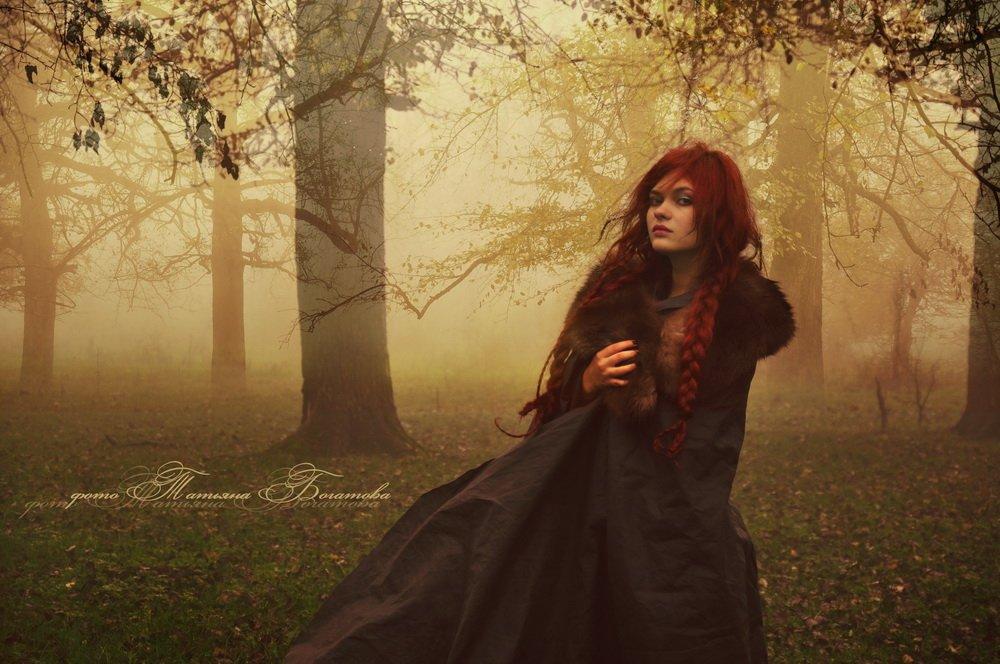 мистика, лес, девушка, Богатова Татьяна