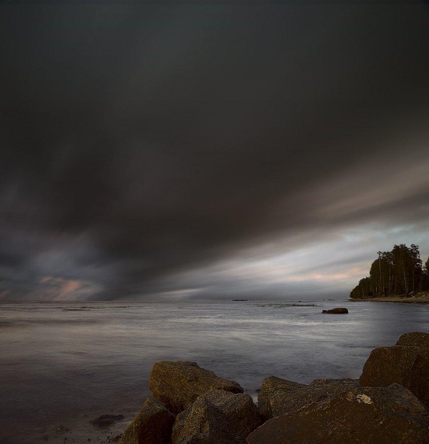 пейзаж, длинная выдержка, длинная, выдержка, long exposure, закат, финский залив, zapravka2