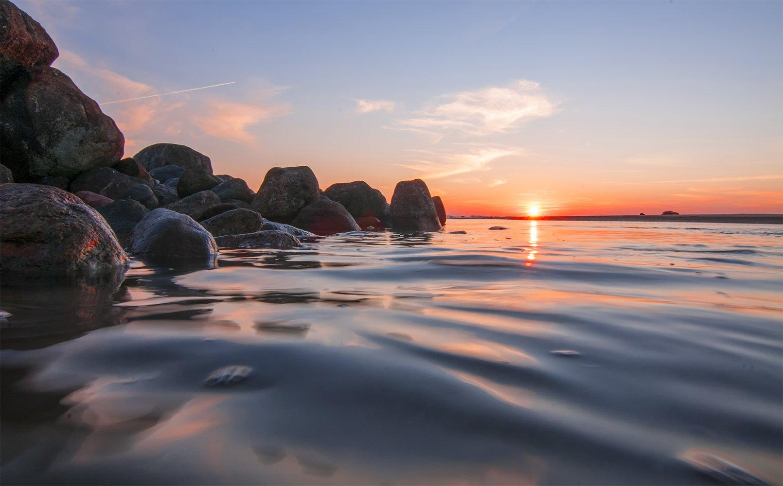 sunset,sea,stones, Daiva Cirtautė