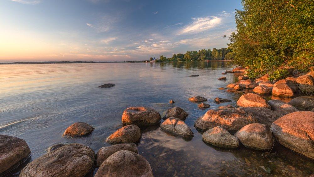 закат пейзаж минск отражение камни вода, Попков Александр