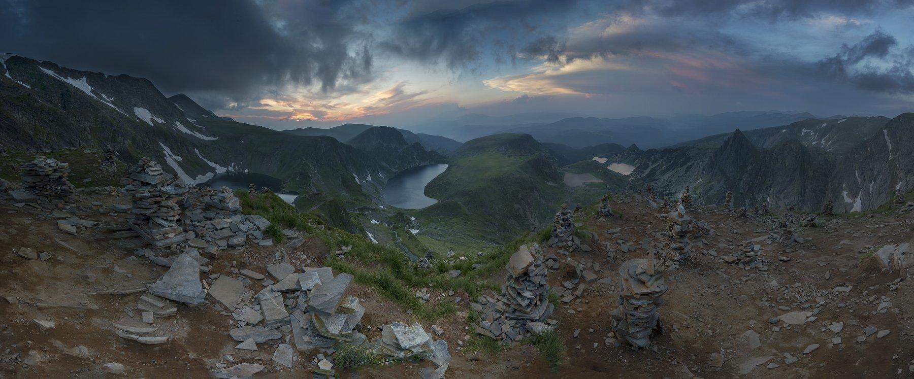 Рила, озера, закат, Даниел Балъков