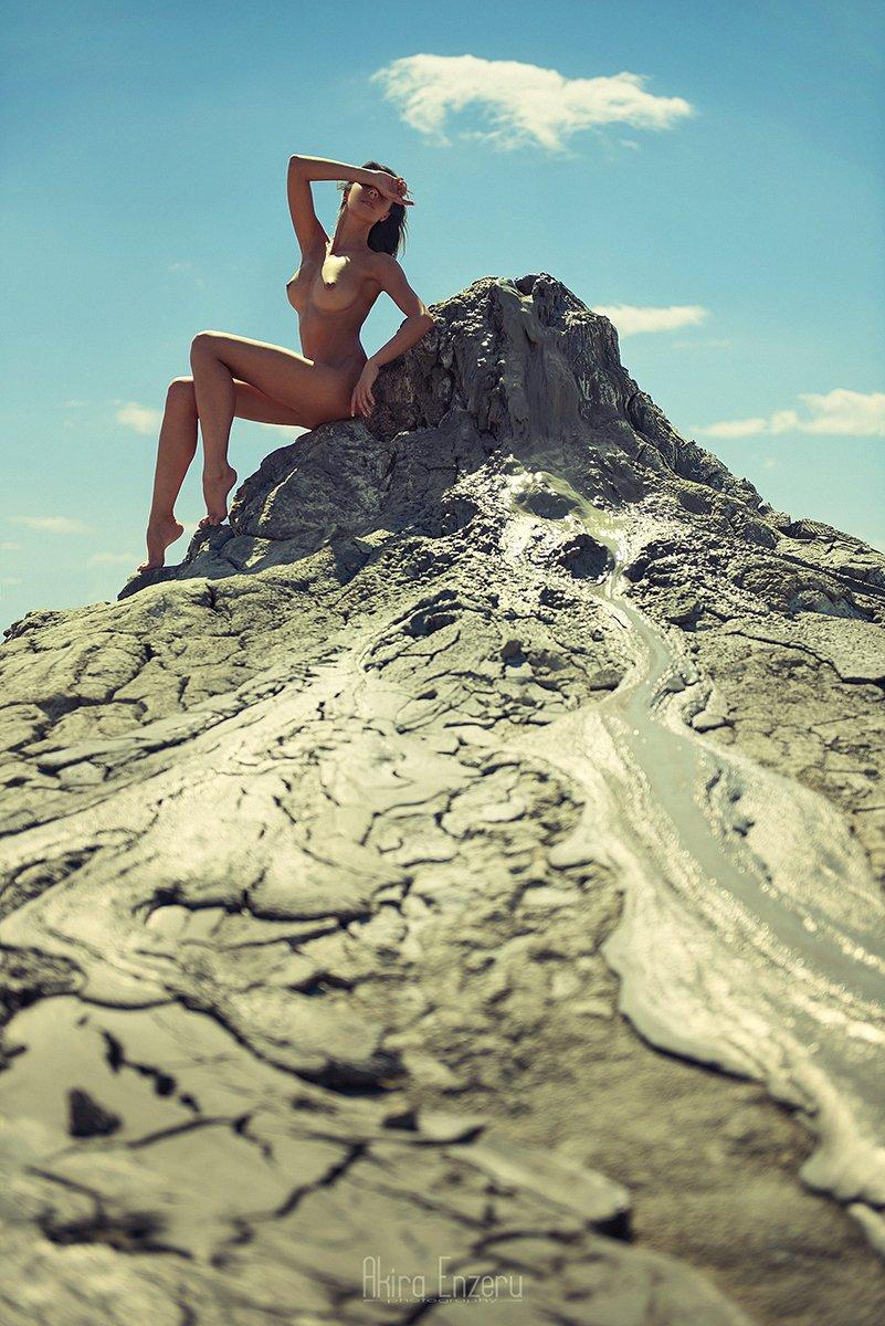 portrait, outdoor, nude, Akira Enzeru
