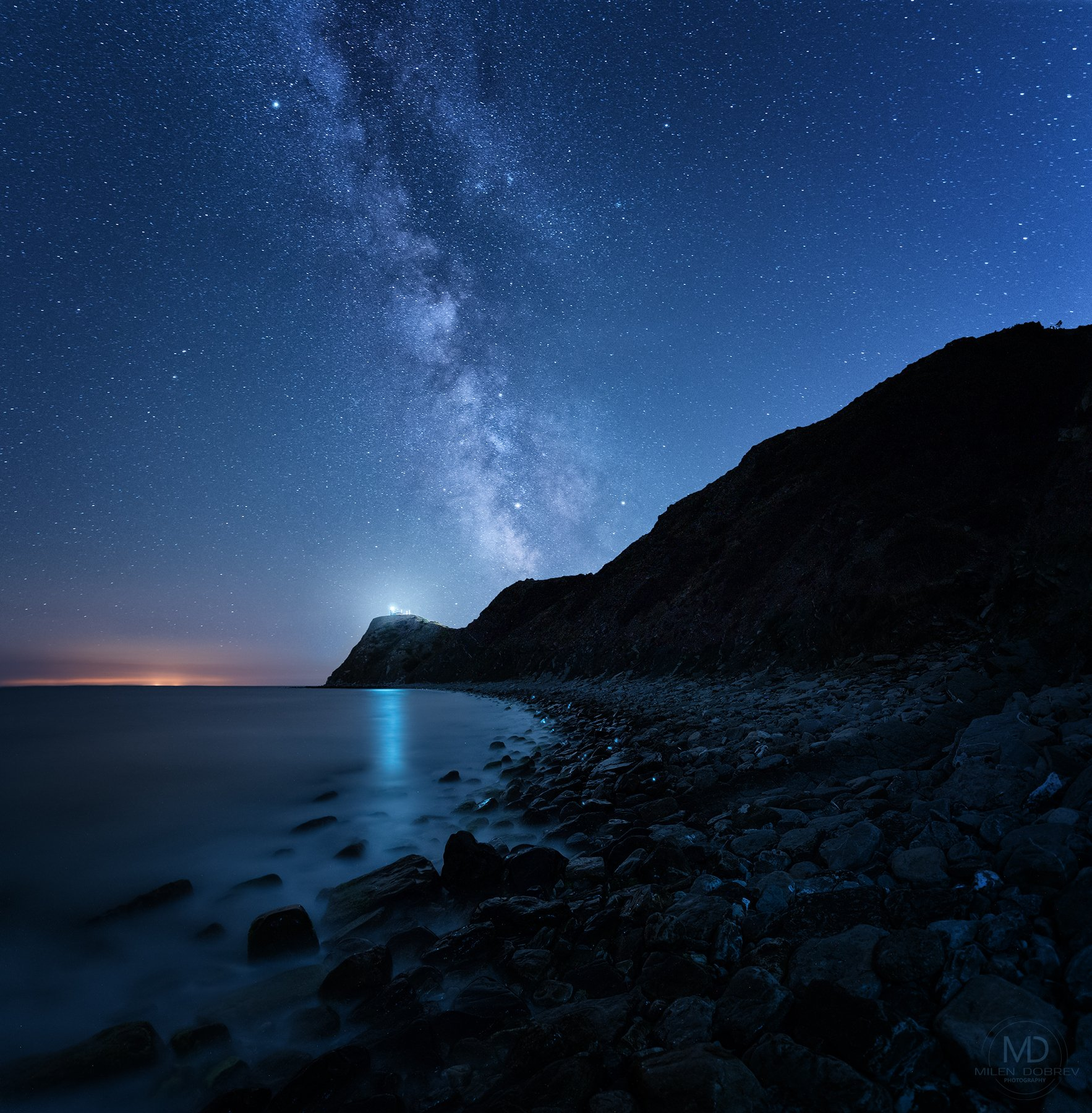 Bulgaria, nightphotography, Milky way, Balkan, stars, night, lighthouse, Милен Добрев