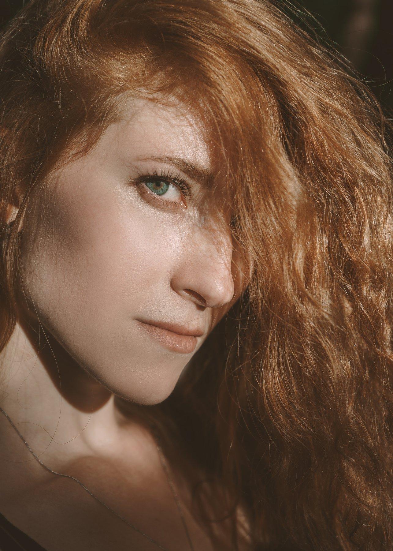 девушка, рыжая, портрет, Астрид Екатерина