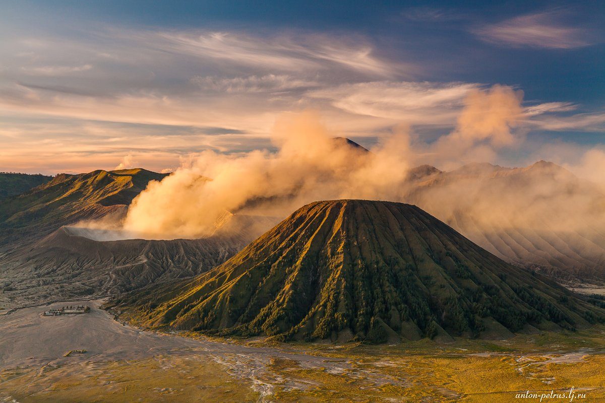 бромо, индонезия, закат, вулкан, тропики, Антон Петрусь