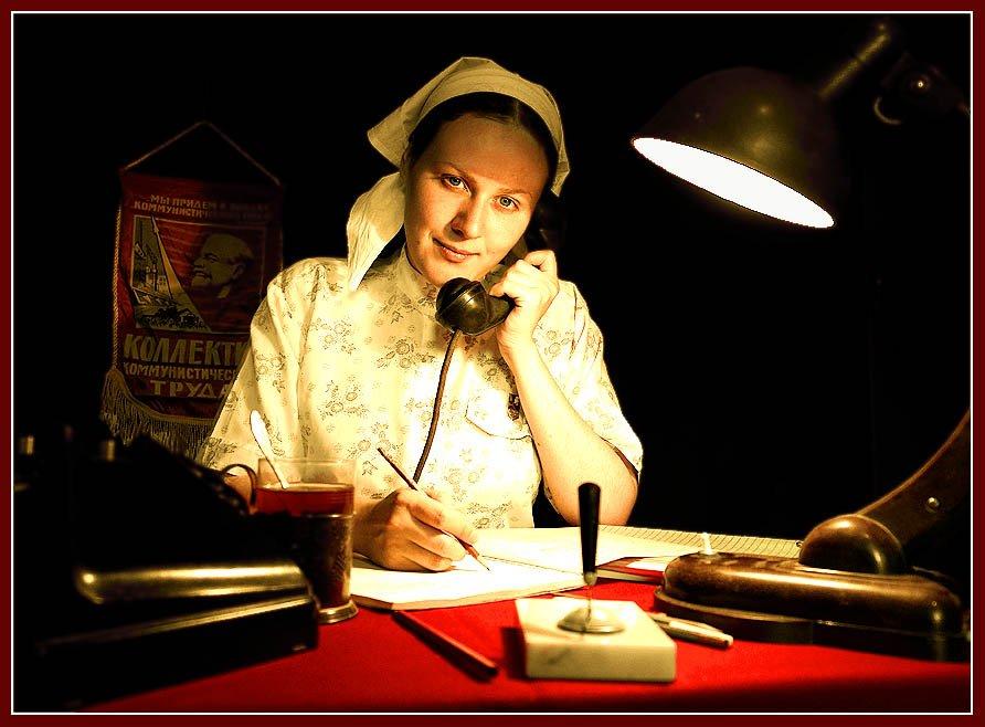 автопортрет, ссср, ночь, советское, телефон, лампа, комсомолка, Anastasia Aymilios