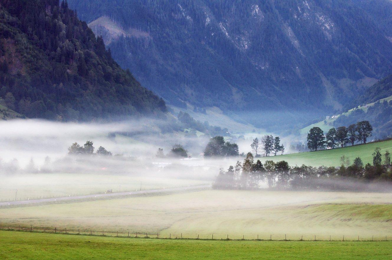 горы, австрия, туман, Людмила