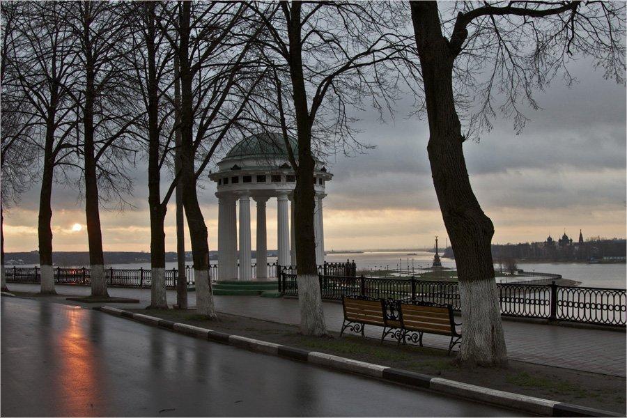 город,ярославль,осень,утро,восход,пейзаж,отражение., СПИРИДОНОВ НИКОЛАЙ
