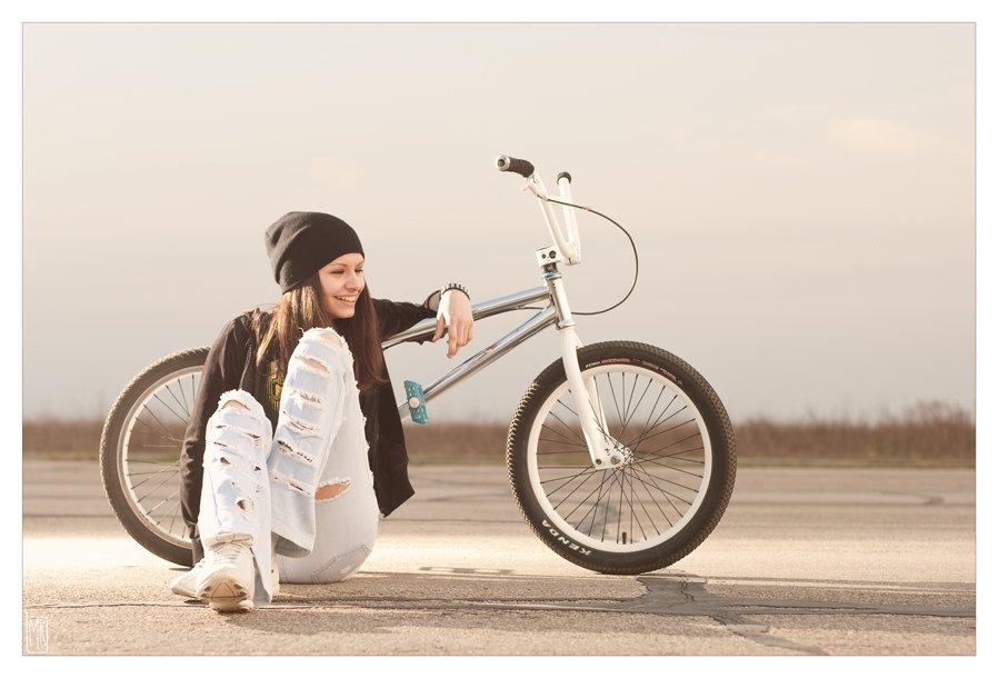девушка, велосипед, bmx, Макс Котенёв
