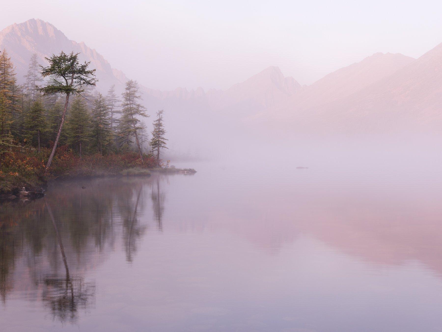 колыма, озеро джека лондона, осень, россия, рассвет, невидимка, Marina Malikova
