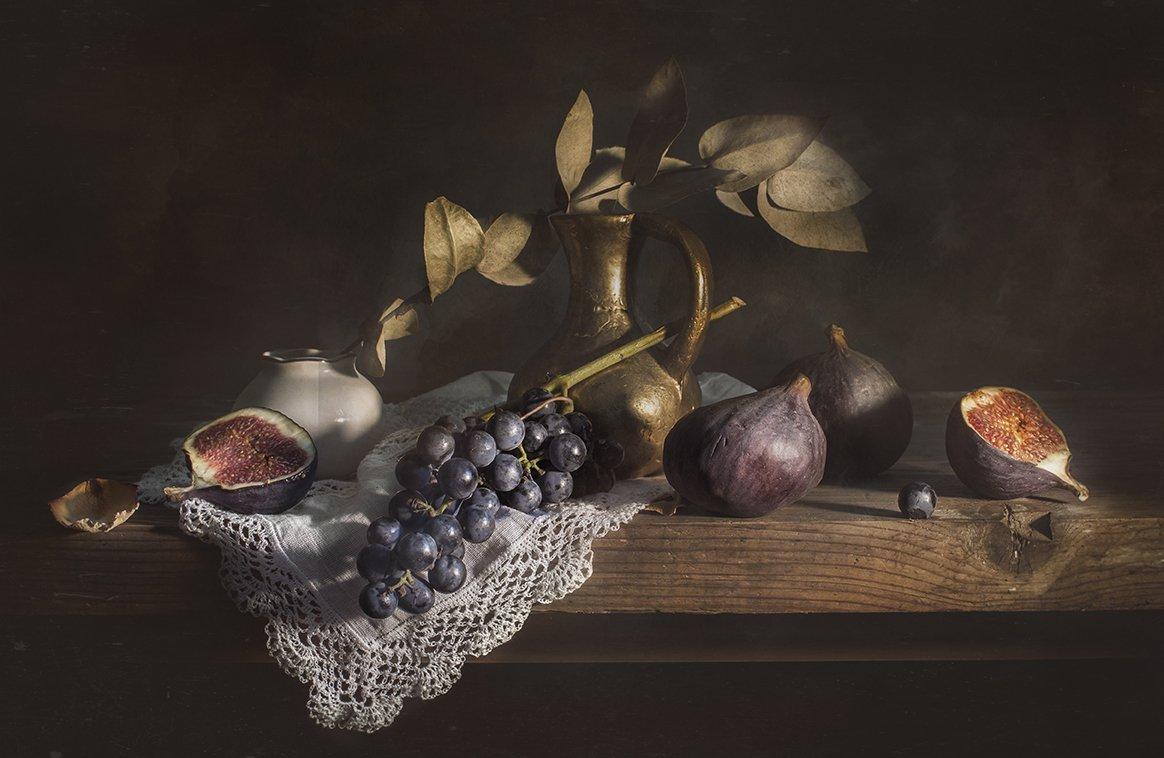 натюрморт, виноград, инжир, still life, Евгений Корниенко