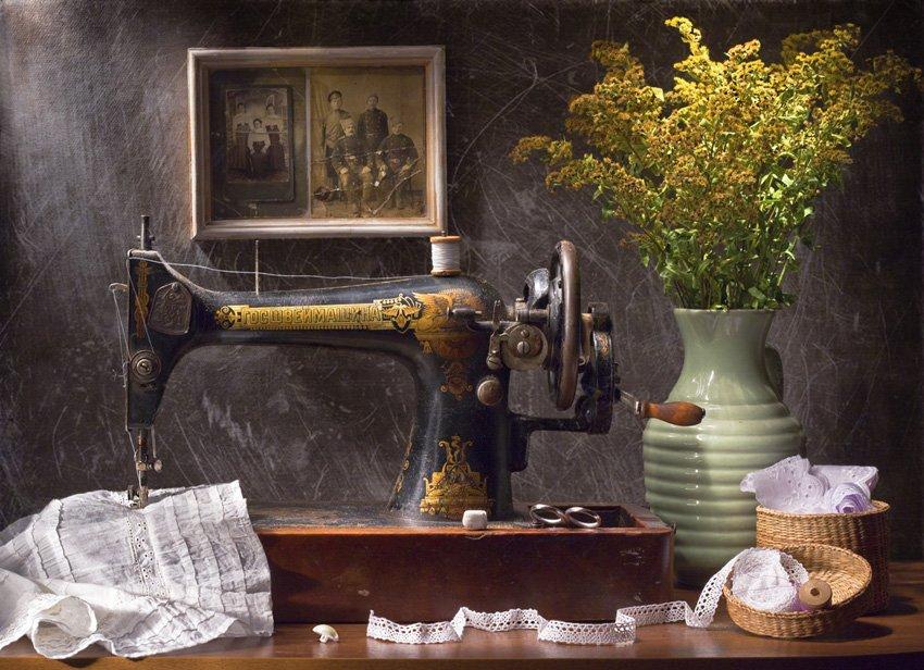 натюрморт,цветы,машинка,старина,, Zadorina Svetlana