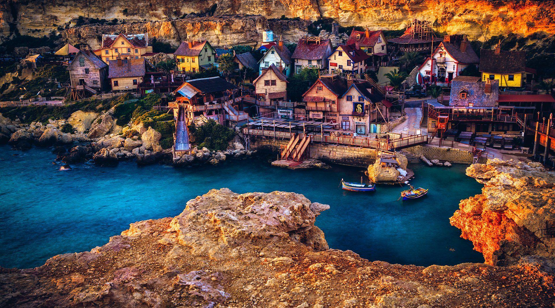 sunset, malta, popeye village, colors, travel, Руслан Болгов (Axe)