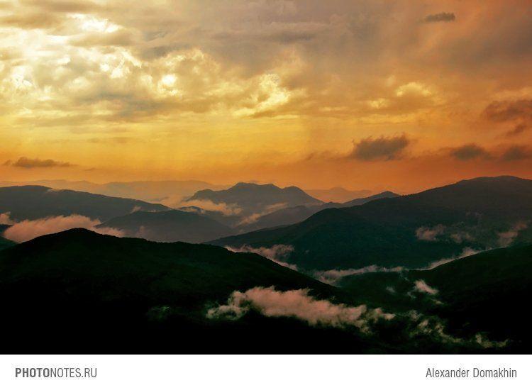 путешествия, кубань, россия, кавказ, пейзаж, небо, горы, облака, Alex Domakhin