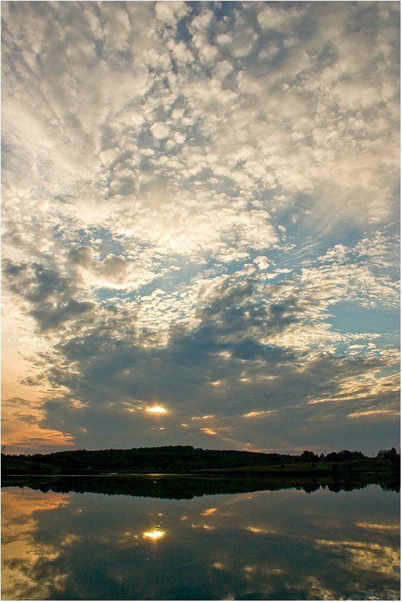 талашкино, смоленская, закат, лето, небо, облака, Gorshkov Igor_Feanorus