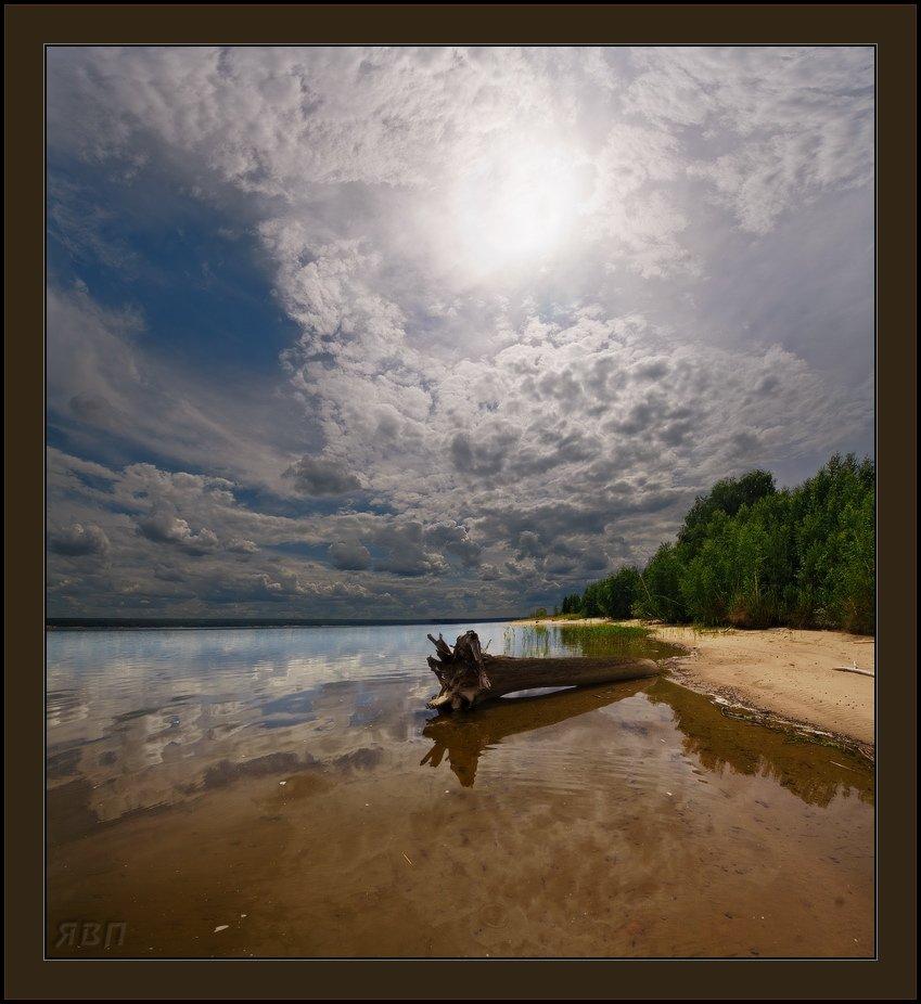 полдень, облака, море, марево, Виталий из Н-ска