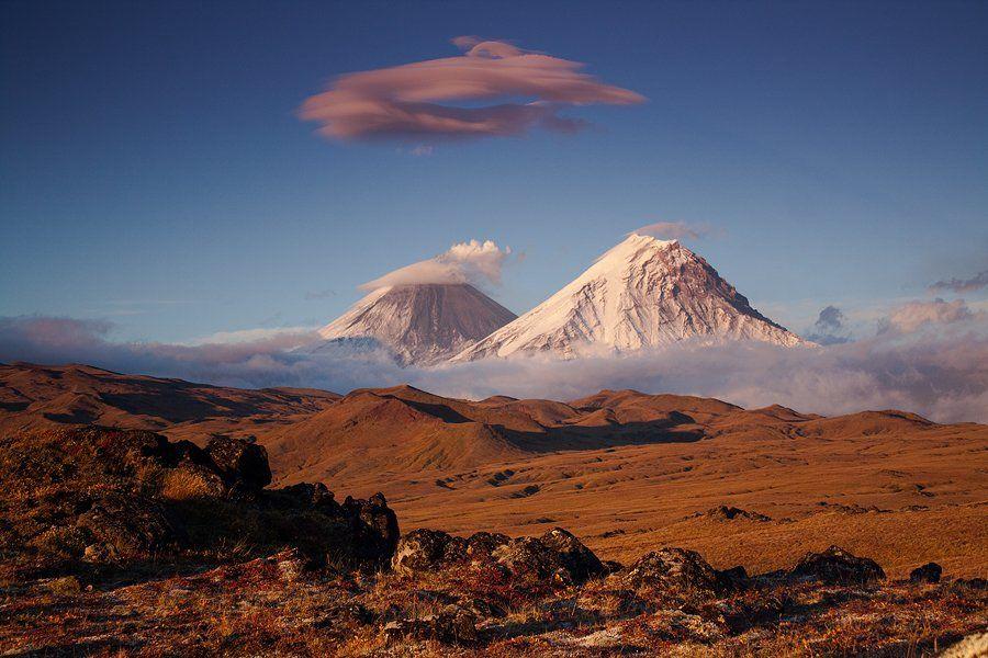 камчатка, вулкан, ключевская, сопка, камень, вечер, осень, закат, фототур, Денис Будьков
