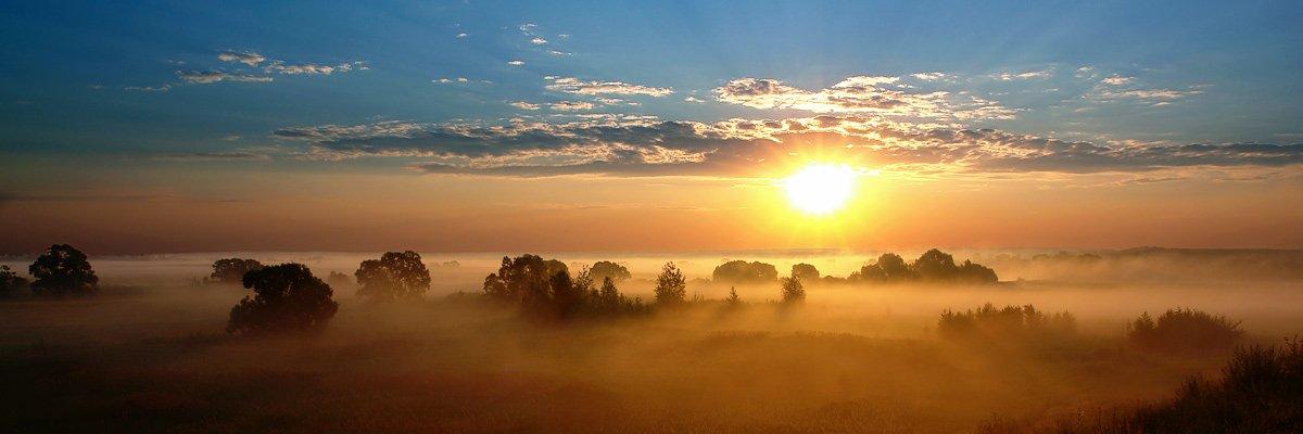 пейзаж, восход, солнце, Пальников Иван