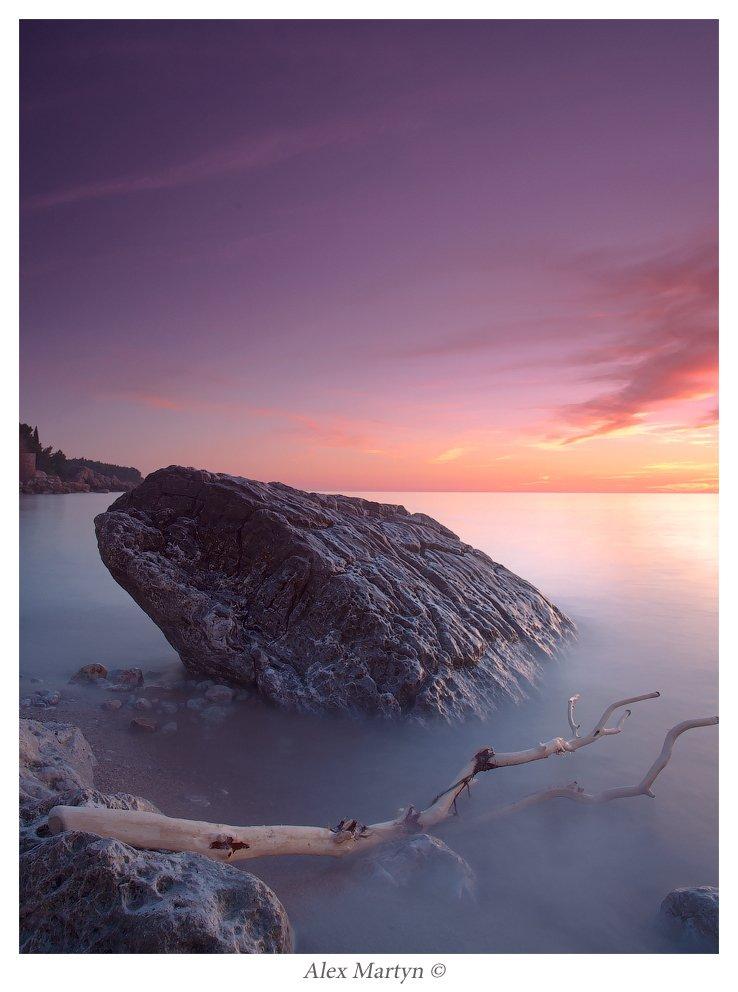 черногория, море, выдержка, бар, закат, Alexander Martynov