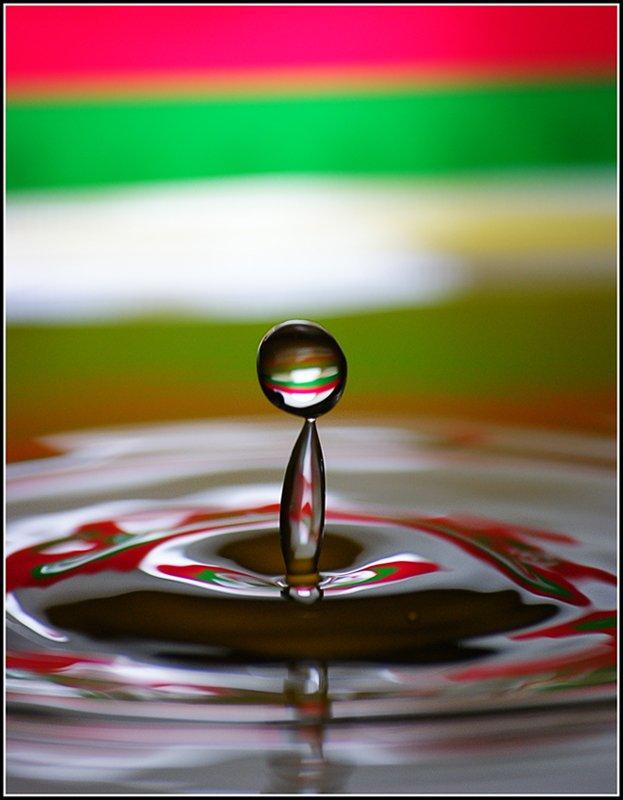 капли, вода, макро, Азат