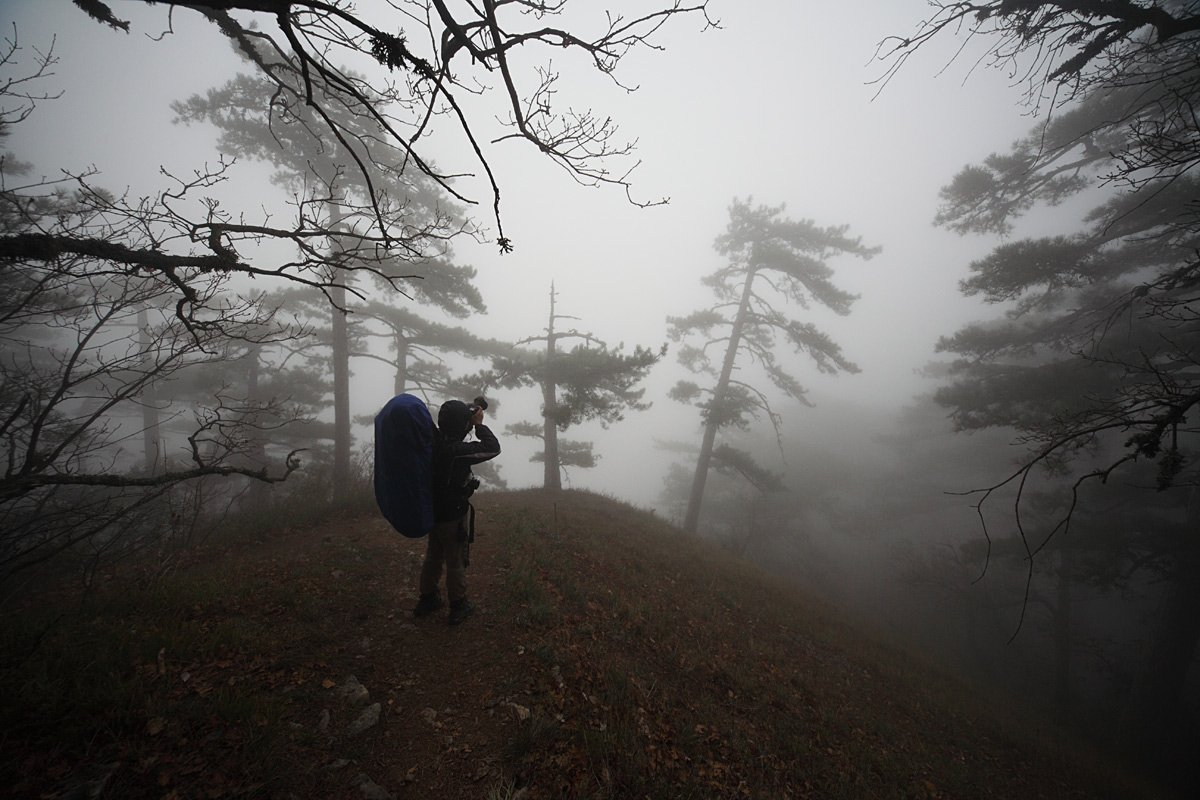 крым, туман, горы, Михаил