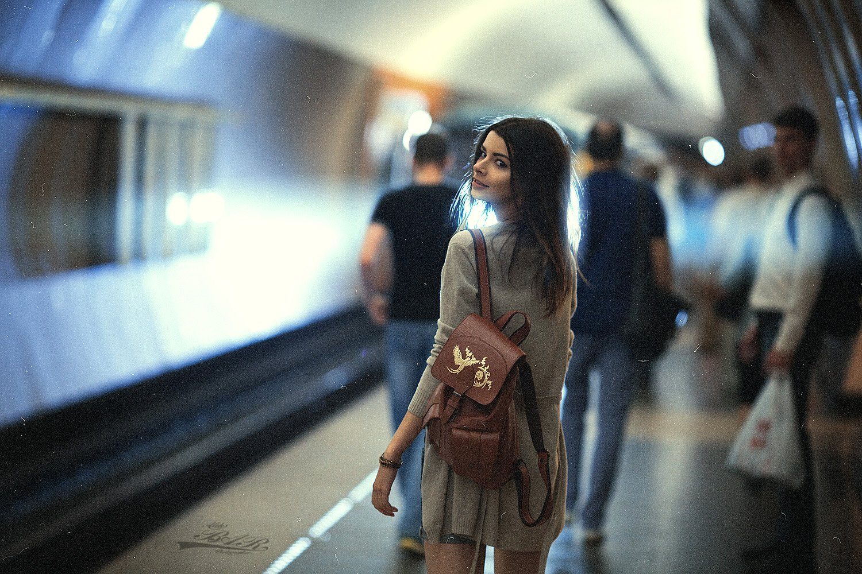 девушка, метро, фотосессия, фотосъемка, стиль, образ, girl, model, subway, photosession, Александр Барабашов