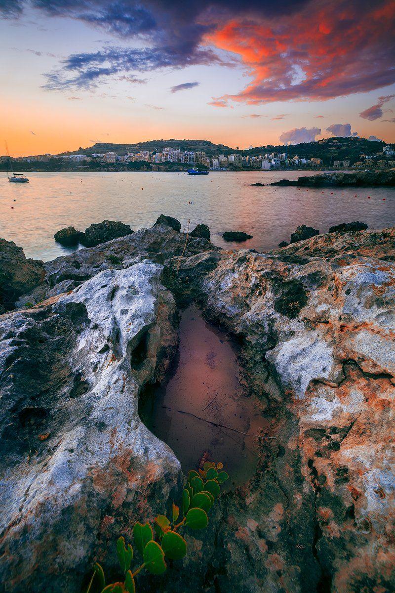 sunrise, malta, seascape, colors, travel, Руслан Болгов (Axe)