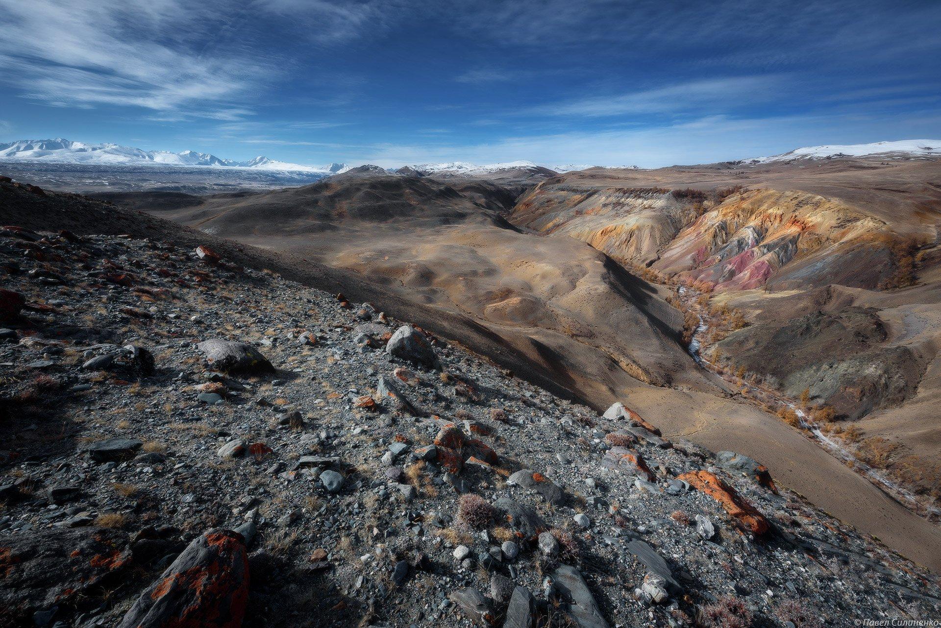 Алтай, пейзаж, горы, скалы, степь, марс, камни, Россия, ючх, Павел Силиненко