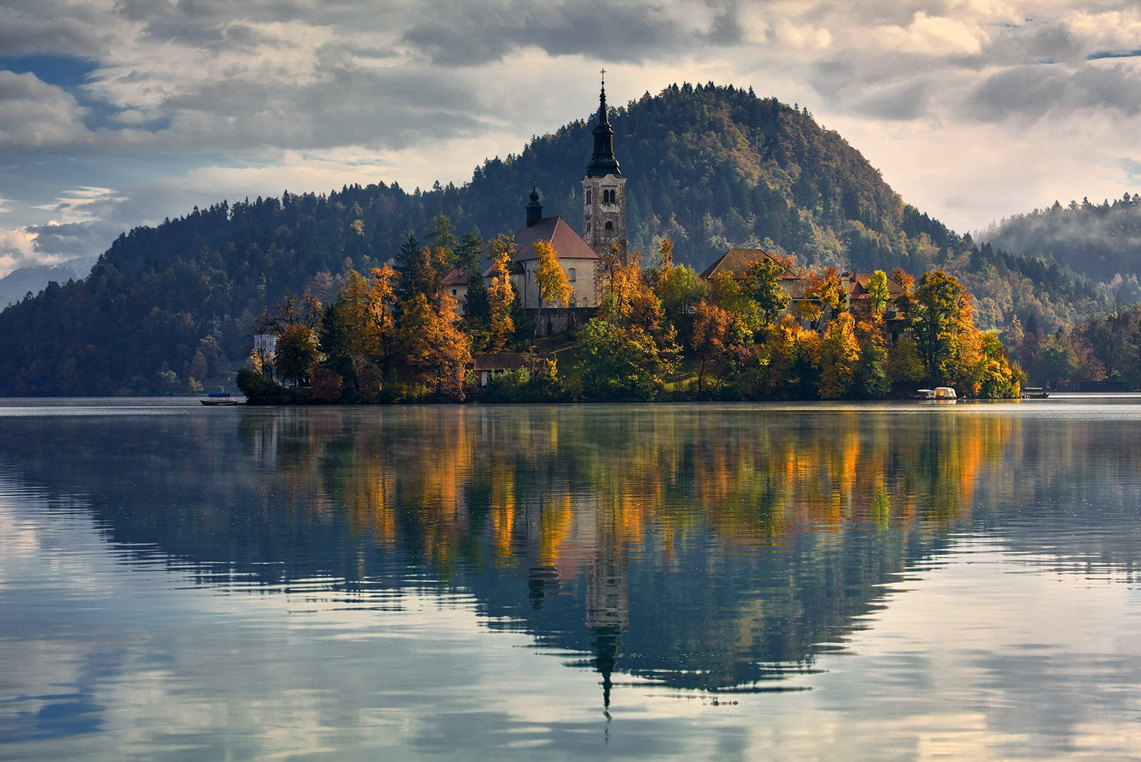 Lake Bled , Church , Island, Bled, Slovenia, Europe., Jan Siemiński